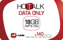 Data Only - Hot Mobile 18GB